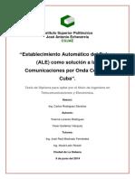 Establecimiento Automático Del Enlace (ALE) Como Solución a Las Comunicaciones Por Onda Corta en Cuba