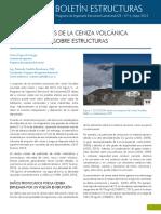 Efectos de la ceniza volcánica sobre las estructuras