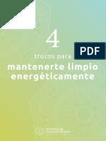 4 Trucos Para Mantenerte Limpio Energeticamente