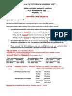 2016 State Meet Schedule