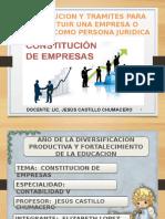 Constitucion y Tramites Para Constituir Una Empresa o Negocio Como Persona Juridica