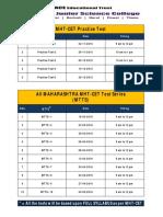 Mht-cet Test Series Planner ( 2015 - 2016 )