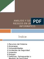 Analisis Gestion de Riesgos en Sistema
