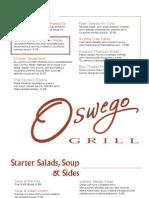 Oswego Grill Core Menu 366..