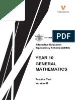Year10 General Maths Practice Test