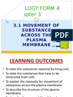 Chapter 3 - 3.1 Movement of Substances Across Plasma Membrane