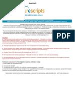 PRESCRIBER RxChange v10.6 20130501 Certification Test Scenarios 2013 v 1.0
