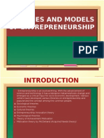 Theories and models of entrepreneurship