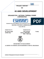 NTPC Project Report