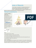 1. Thermal Properties of Materials