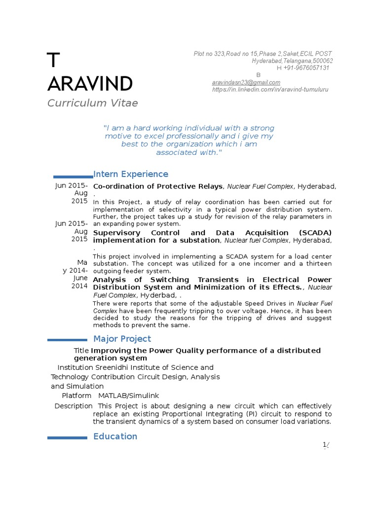 curriculum-vitae (1).docx | Electrical Substation | Electricity