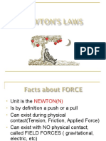 Newtons First and Second Law
