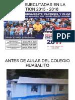 PROYECTOS EJECUTADOS 2015