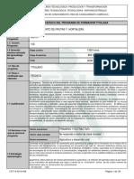 Infome Programa de Formación Titulada TPFH