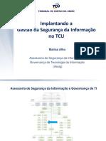 Implantando a Gestão Da Segurança Da Informação No TCU