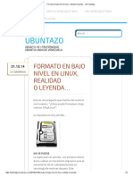 Formato en Bajo Nivel en Linux