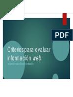 Criterios Para Evaluar Información