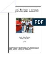 Community Television in Venezuela. Forging an identity within the Revolution