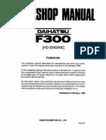 Daihatsu Feroza Engine Workshop Manual