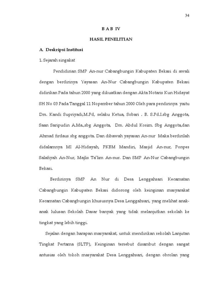 Contoh Skripsi Kuantitatif Oleh Drs H Kandi Supriadi Mpd