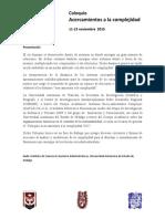 Coloquio Acercamientos a La Complejidad 2015 v05