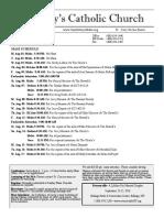Bulletin for Aug 1-17, 2016