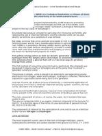 Innovation - Urine Valorisation - Reuse as Fertilizer and Fuel