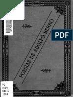 Poesías de Adolfo Berro