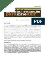 Dirección de Fotografia Material DIA 01