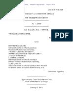 Thomas Hayden Barnes v. Ronald M. Zaccari, 11th Cir. (2015)