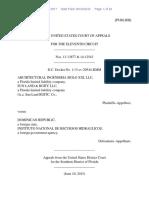 Architectural Ingenieria Siglo XXI, LLC v. Dominican Republic, 11th Cir. (2015)