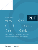 How to Keep Your Customers Coming Back