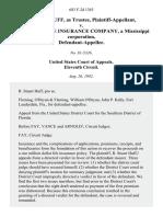R. Stuart Huff, as Trustee v. Standard Life Insurance Company, a Mississippi Corporation, 683 F.2d 1363, 11th Cir. (1982)