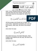 Grade 1 Islamic Studies - Worksheet 7.2 - Tafseer Surah Al-Fatihah [Part 2]