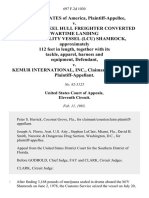 United States v. One (1) 1944 Steel Hull Freighter Converted Wartime Landing Craft Utility Vessel (Lcu) Shamrock, Approximately 112 Feet in Length, Together With Its Tackle, Apparel, Harness and Equipment v. Kemur International, Inc., Claimant/counterclaim, 697 F.2d 1030, 11th Cir. (1983)
