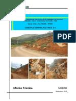 Informe Sector Crítico km 75+040-75+095