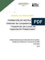 Impartición de Cursos de Capacitación Presenciales - INEA