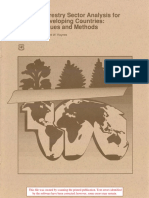 forestry sector analysis for develoing countries