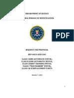 RFP Format FBI Solicitation