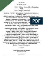 Johnson v. Desoto County Board, 72 F.3d 1556, 11th Cir. (1996)