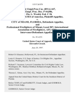 74 Fair empl.prac.cas. (Bna) 447, 71 Empl. Prac. Dec. P 44,806, 11 Fla. L. Weekly Fed. C 56 United States of America v. City of Miami, Florida, and Professional Firefighters of Miami, Local 587, International Association of Firefighters, Afl-Cio, Intervenor/defendant-Appellant, 115 F.3d 870, 11th Cir. (1997)
