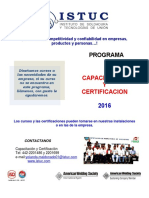 Calendario Evento Certificacion 2010