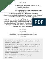 Felton Cullen Williams v. Owens-Corning Firberglas, 405 F.3d 1291, 11th Cir. (2005)