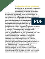 Historia Del Subdesarrollo de Honduras