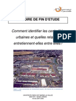 mémoire sur les centralités urbaines