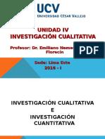 Unidad IV. Investigación Cualitativa - UCV