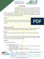 Convocatoria Elaboracion de Plan de Desarrollo Territorial Laguna