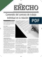 Contenido Del Contrato Individual de Trabajo en La Relación Laboral - Autor - Jose Maria Pacori Cari La Gaceta Jurídica 24-07-16