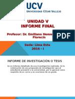 Unidad v. Informe Final - UCV