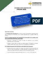 Condiciones de Renovacion Credito Web